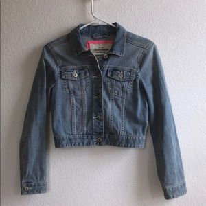Abercrombie and Fitch light wash jean jacket